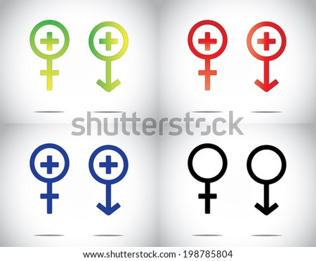 Male Female Man Woman Medical Health Stock Vector Royalty Free