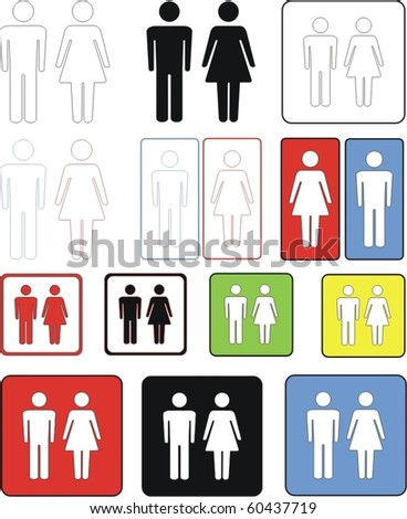 male & female sign / man & women - stock vector