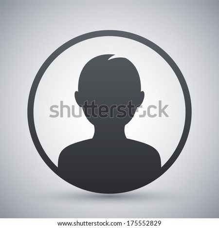 Male user icon, vector illustration - stock vector