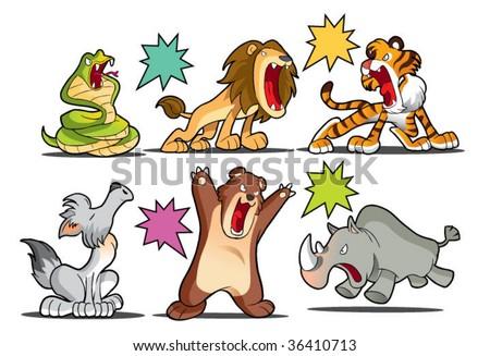 mammal collection - stock vector