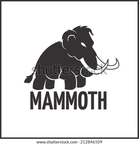 Mammoth illustration - stock vector