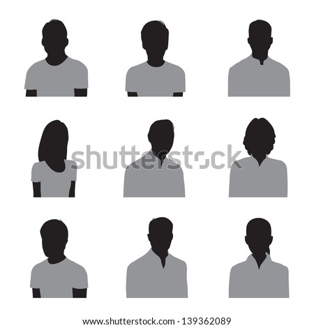 head and shoulders silhouette stock photos images
