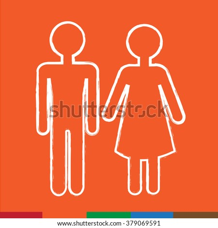 man and lady People icon Illustration design