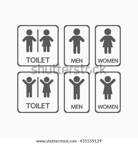 man and lady, toilet icon - stock vector