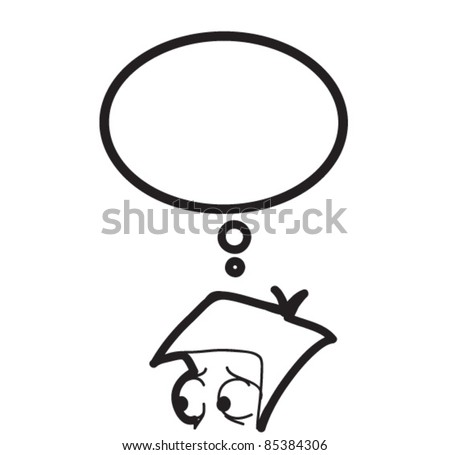 man and the speaking bubble - stock vector