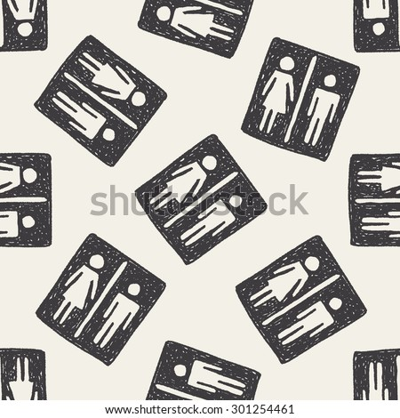 man and woman doodle seamless pattern background