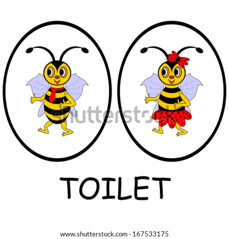 Bathroom Signs For Kindergarten funny toilet signs stock images, royalty-free images & vectors