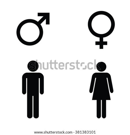 man woman sign male female symbols stock vector 381383101 - shutterstock