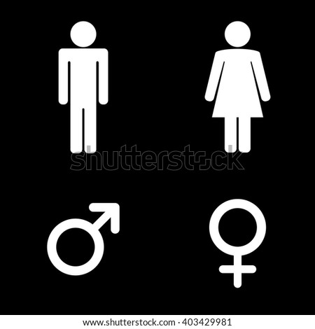 Bathroom Sign Person man lady toilet sign male female stock vector 302258540 - shutterstock