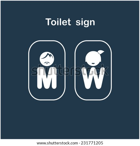Man and woman toilet sign, restroom symbol . Vector illustration - stock vector