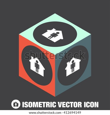 Man at Home vector icon
