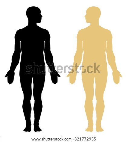 Man body vector silhouette. EPS 10 - stock vector