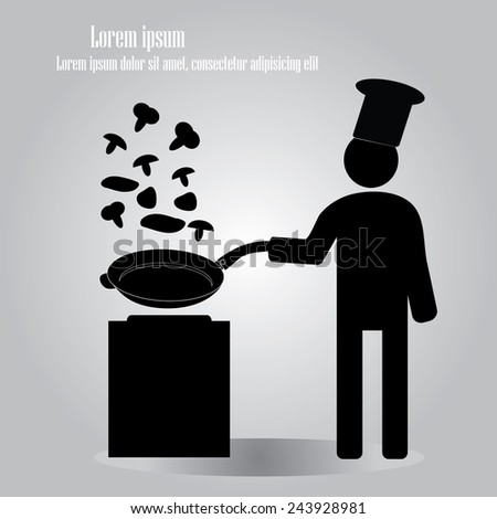 man cooking icon vector,man vector,chef vector - stock vector