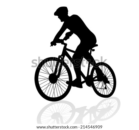 man cycling vector