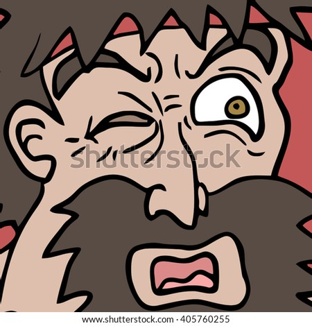 man expression - stock vector