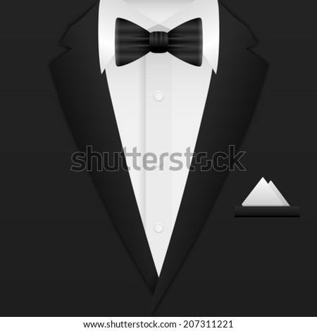 Man formal suit background. Vector illustration. - stock vector