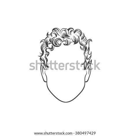 Man haircut. Hand drawn  vector illustration. Man's  Hairstyle - stock vector