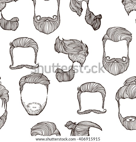 Hairstyle Vector : Man Hairstyle Set Handdrawn Sketches Vector Stock Vector 406915915 ...