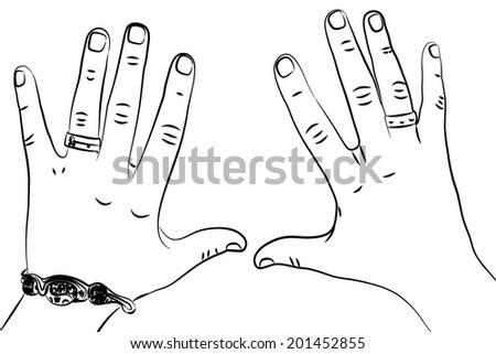 Man hand, vector - stock vector