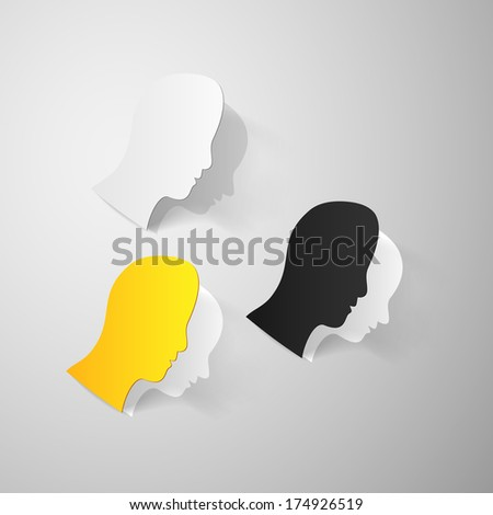 Man head paper cut