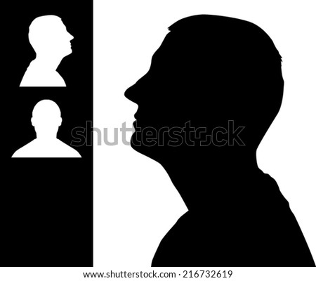 Man head silhouette - stock vector