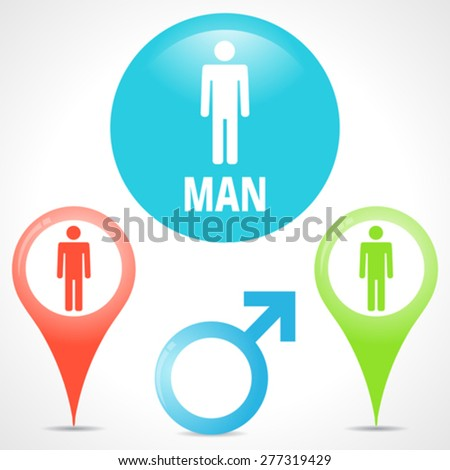 Man icon. Set element for design. Vector illustration.  - stock vector