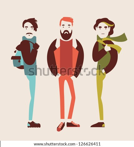 man in fashion clothes isolated on light background vector illustration eps 10 - stock vector