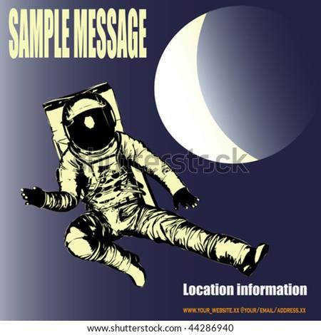 Man in the Moon - stock vector