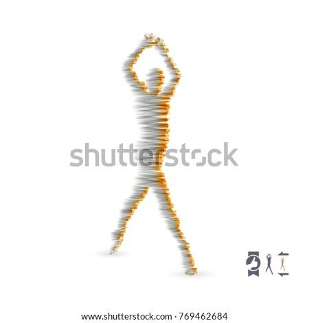 Man Posing Dancing 3d Model Man Stock Vector 769462684 Shutterstock