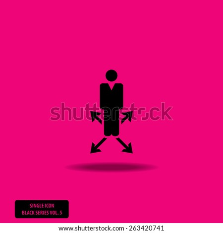 Man on Crossroad - Single Icon Series vol. 5 - stock vector