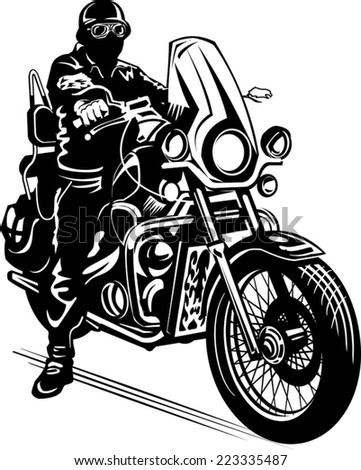 man on motorbike stock vector 223335487 shutterstock rh shutterstock com motorcycle vector art motorcycle vector png