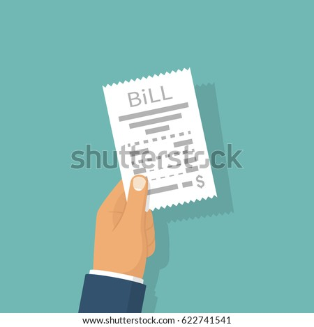 Invoice Notes Word Utility Bill Stock Images Royaltyfree Images  Vectors  What Is Ebay Invoice Excel with Dealer Invoice Price New Cars Pdf Man Paying Bill Hold In Hand Receipt Payment Of Utility Bank Restaurant Apps For Receipts