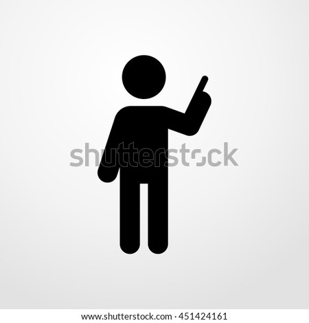 man pointing icon. man pointing sign - stock vector