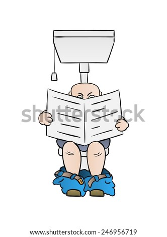 Man On Toilet Stock Photos Royalty Free Images Vectors