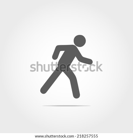man running icon on white background - stock vector