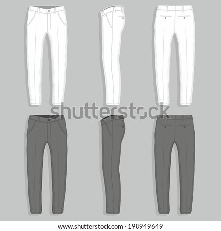 Man's fashion trousers - stock vector