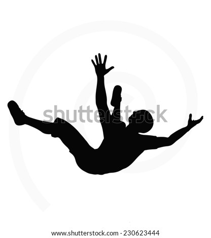 man silhouette isolated on white background stock vector