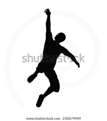 man silhouette isolated on white background - in hanging pose