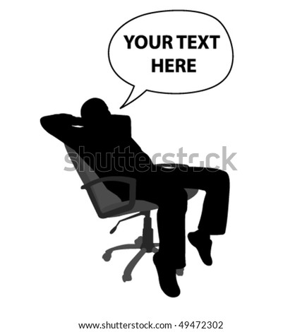 man sitting and relaxing in chair - vector