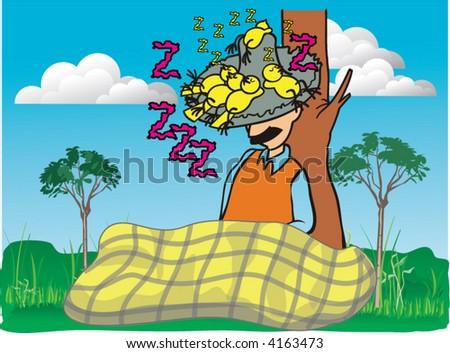 man sleeping beauty - stock vector