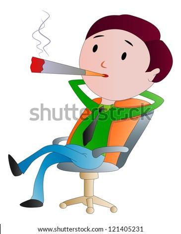 Man Smoking Cigar Stock Vectors, Images & Vector Art   Shutterstock