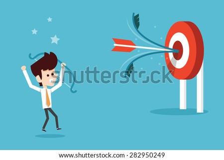 man success target - stock vector