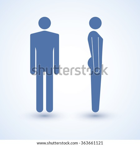 Man. The abstract image of a man. Vector image of silhouettes of men. - stock vector