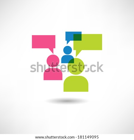 Man thinks icon - stock vector