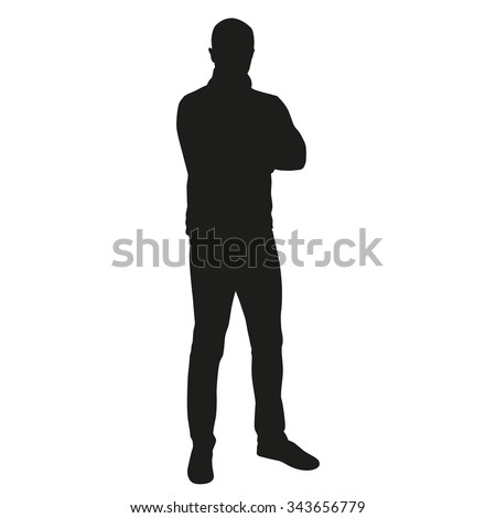 Man vector silhouette - stock vector