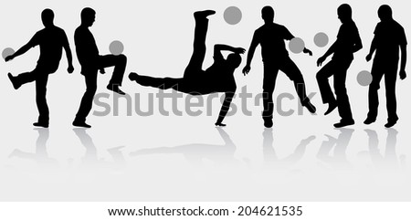 Man with ball silhouette