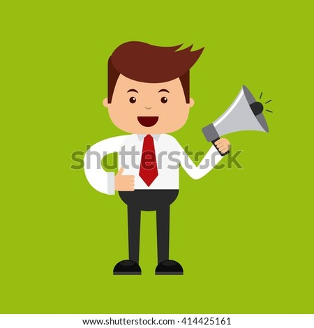 man with megaphone design  - stock vector