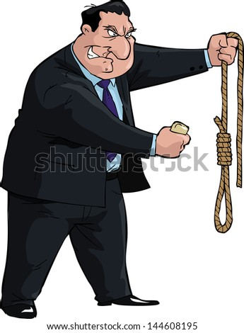 Man with soap and noose vector illustration - stock vector
