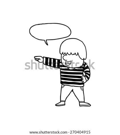 man with speech bubble - stock vector