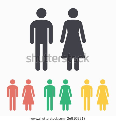 Man   Woman restroom icon. Vector Man Woman Icons Toilet Sign Stock Vector 547044919